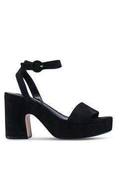 2e47e77eebe Mango black Platform Ankle-Cuff Platform Heels D3DDESHE915504GS 1