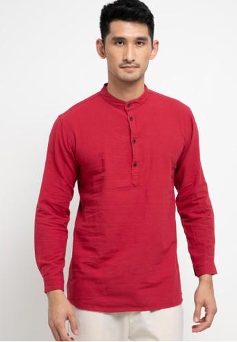 OLLten red O/L-Men Koko Long Shirt CC72FAA14301DBGS_1