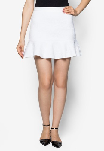 Texturedzalora 衣服評價 Fluted Hem Skirt, 服飾, 迷你裙