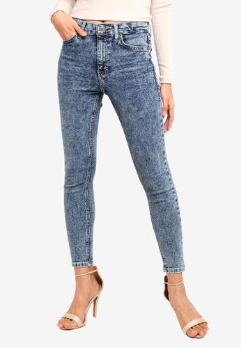 TOPSHOP 藍色 Indigo Acid Jamie Jeans 87E5FAA82F1889GS_1