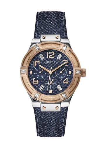 Guess Watch blue Guess Jam Tangan Wanita - Blue Silver Rosegold - Leather Strap - W0289L1 D1EA4AC22910CCGS_1