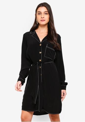 ONLY 黑色 襯衫洋裝 CBB98AA87EC17BGS_1
