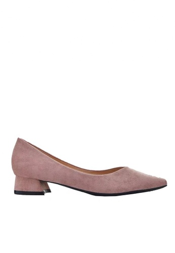 Twenty Eight Shoes 粉紅色 2.5CM尖頭絨面高踭鞋 333-1 6B595SHA0D00F5GS_1