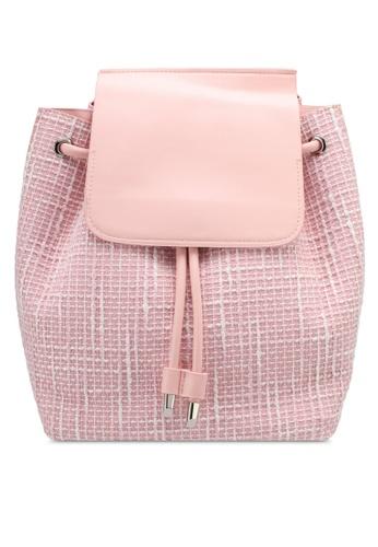 VINCCI pink Tweed Backpack VI831AC0SY6WMY_1