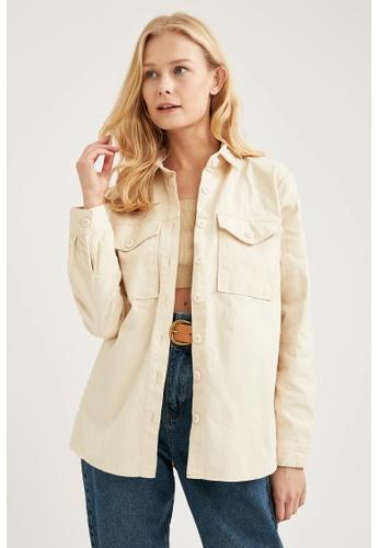 DeFacto grey Woman Woven Long Sleeve Shirt 0B899AA6CB00D6GS_1