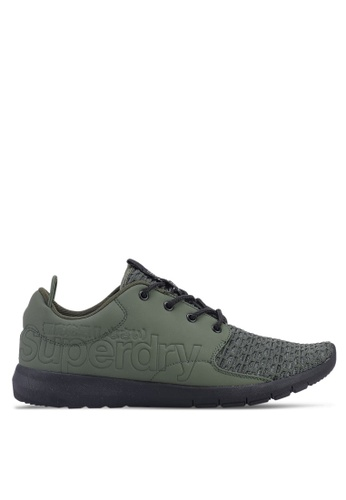 Superdry green Superdry Scuba Sport Runners 0C916SHEF0F320GS_1