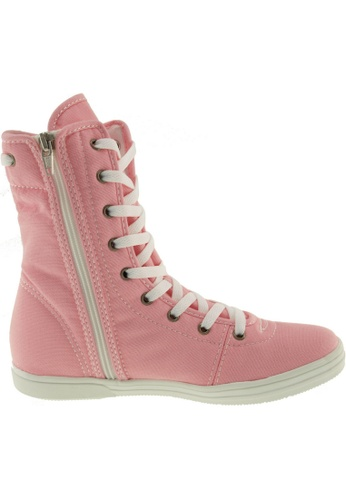 Maxstar pink Maxstar Women's 8119 Hidden Heel Canvas High Top Shoes US Women Size MA164SH31PPGSG_1