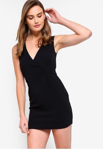 Buy Zalora Basics Basic Wrap Top Pencil Dress Online On Zalora Singapore