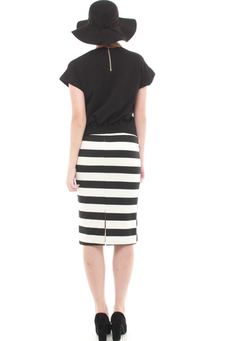 Striped JOVET Black JOVET Black Midi Skirt Striped Midi Skirt q4IzSw5xE4