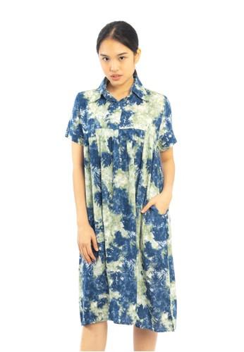 Agatha green and blue Agatha Abstract Green Blue Dress B9B26AADABF71AGS_1
