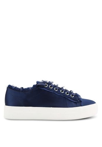 TOPSHOP navy Caramel Flatform Lace Up Trainers TO412SH50JWVMY_1