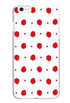 Little Strawberries Glossy Hard Case for iPhone 6 Plus