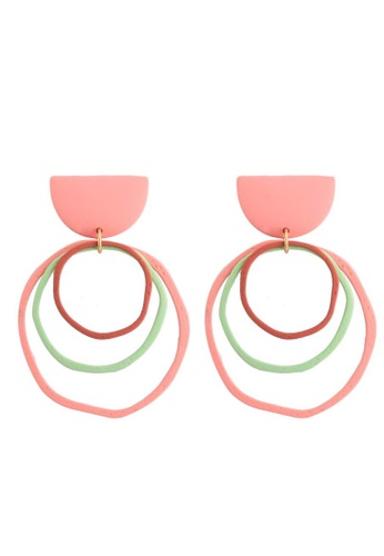 A-Excellence gold Multi Circle Earrings 25D27AC2E9E5F7GS_1