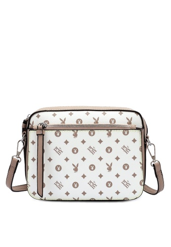 PLAYBOY BUNNY white Sling Bag 7EE7CACB3C16BDGS_1