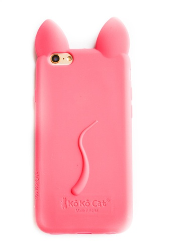 Fancy Cellphone Cases pink Cat Soft Rubber Case for iPhone 5/5s/SE                             FA644AC41VKKPH_1