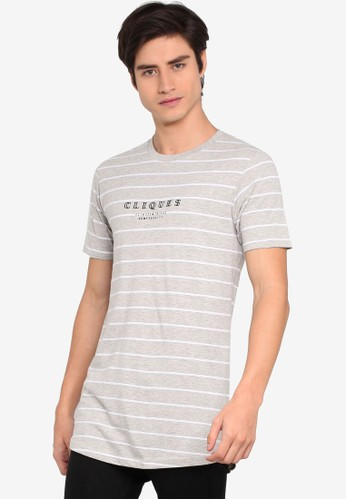 Cotton On grey Longline Scooped Hem Tee 9B3BEAA18FAD3BGS_1
