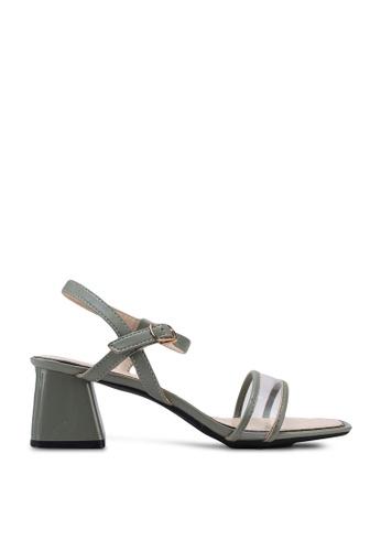 Kimmijim 綠色 Mel Open Toe Ankle Strap Heels 3D351SH9428FF5GS_1