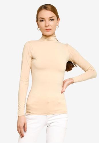 Gene Martino beige Long Sleeve Inner Wear C6580AAA7AF7BAGS_1