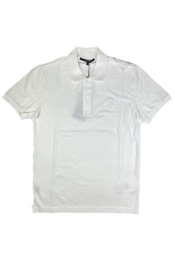 Gucci white PRE-LOVED GUCCI COTTON POLO SHIRT A5C3BAA832D48EGS_1