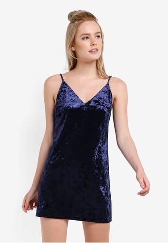 Something Borrowed blue Textured Mini Slip Dress DF0C9AAE3B6D7FGS_1