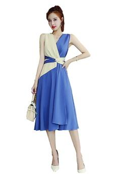 d0070eb269ba ICONIC purple and beige Kimono Overlap Dress with Self Tie Belt  DFA1AAAA800CDDGS 1