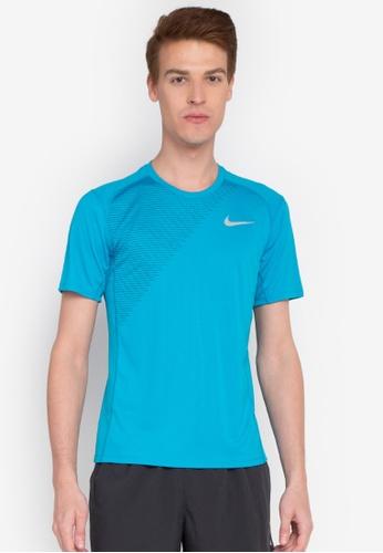 Nike blue Men's Nike Dry Miler Running Top NI126AA0STVPMY_1