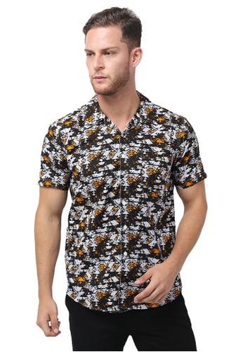 Tendencies black Tendencies Short Shirts ABSTRAC NAVAJO ORANGE BD033AAB740361GS_1
