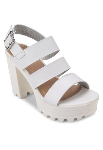 踝帶zalora 衣服尺寸厚底高跟涼鞋, 女鞋, 高跟鞋
