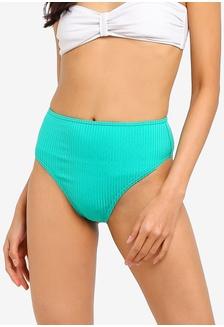 972c74df05a12 TOPSHOP High Waisted Ribbed Tanga Bikini Bottoms RM 79.00  Ribbed High  Waist Bikini Bottoms