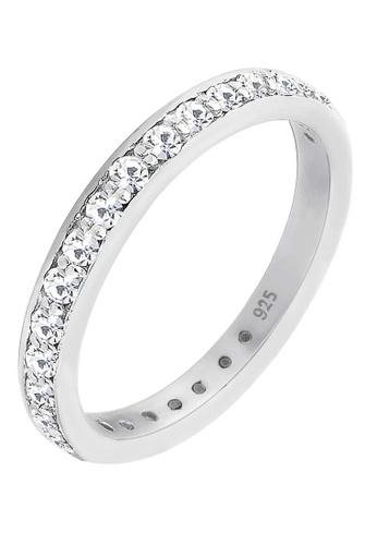 0576cb98273be Elli Germany Ring Sterling Silver Band Ring Swarovski Crystals