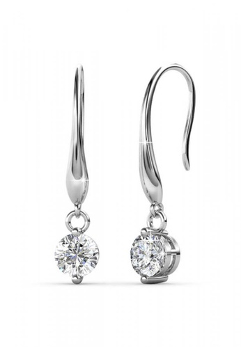 Her Jewellery silver Her Jewellery Crystal Hook Earrings embellished with Crystals from Swarovski A2AC1AC338EDEBGS_1