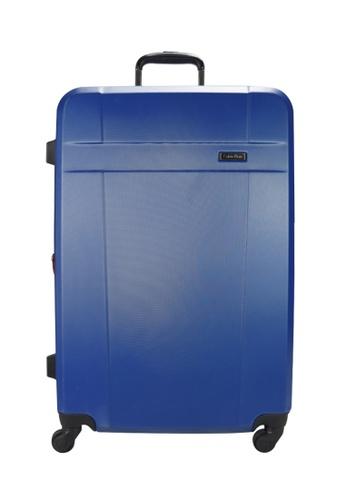 "Calvin Klein blue Calvin Klein Milan 20"" Spinner Hard Case Luggage - Blue 6C438ACD626CB7GS_1"