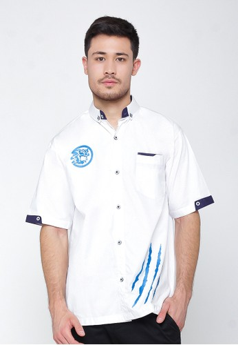 ukhuwah white Baju Koko Ukhuwah Sancang Putih 3588FAA84FD8ECGS_1
