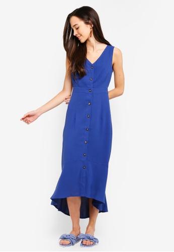 cef632a5d9c6 Buy Something Borrowed Button Down Sleeveless Midi Dress Online on ZALORA  Singapore