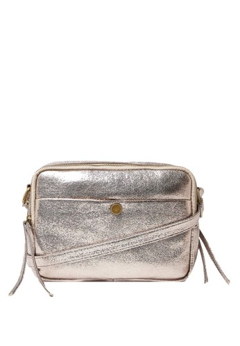 MARKS & SPENCER gold and silver Metallic Camera Bag 02BB8ACF44C44EGS_1