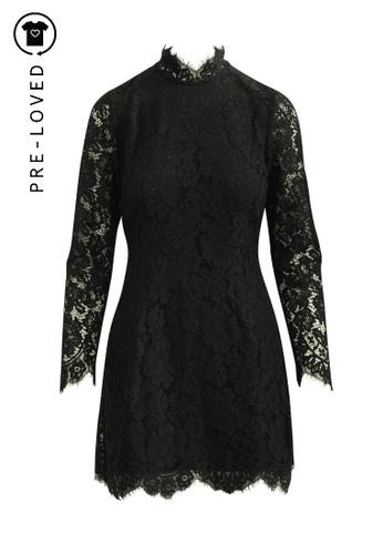 Ganni black Pre-Loved ganni Black Lace Dress 9822BAA1596D1DGS_1