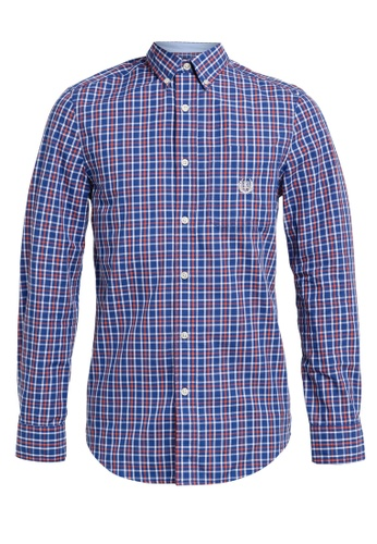 Chaps blue Chaps Stretch Cotton Shirt 789EAAA6B804ECGS_1