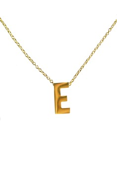 E Stainless Letter Necklace
