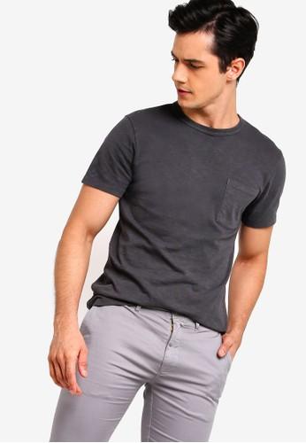 J.Crew black Slim Garment Dye Pocket Crew Tee 59A54AAF341F3EGS_1