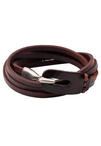 HAPPY FRIDAYS Vintage Leather Hook bracelet QNW2238 0EF6AACBDD03F7GS_1