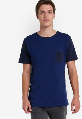 MANGO Man blue Slub-Cotton T-Shirt MA449AA00HMLMY_1