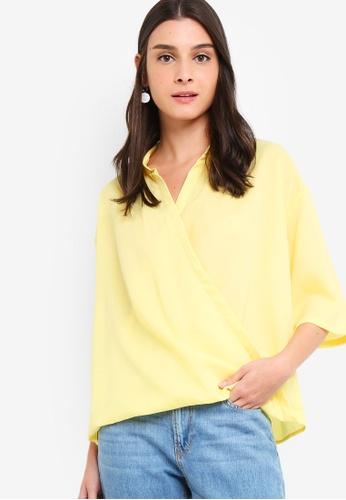 ZALORA yellow Overlap Shirt 32B20AAF136F54GS_1