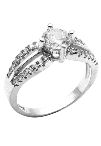 Elfi silver Elfi 925 Genuine Silver Engagement Ring P52 - The Epitome of Love EL186AC25OLEMY_1