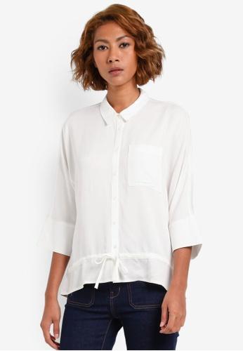 Vero Moda white Amara Peplum Shirt VE975AA0S41CMY_1