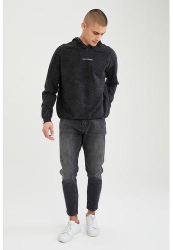 DeFacto grey Text-Motif Sweatshirt AE2A0AA7AE02E9GS_1