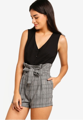 ZALORA multi Buttoned Down Playsuit E6361AABAF26B7GS_1