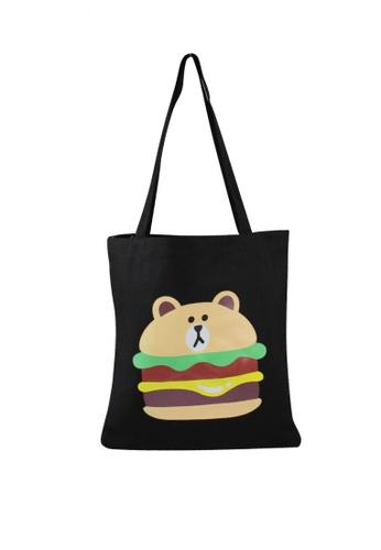 OOTD black Burger Bear Shoulder Bag OO654AC65FCGPH_1