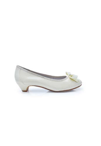 Elisa Litz white Avi Low-Heels (White) EL365SH0FCLYSG_1
