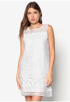 Placement Lace Shift Dress