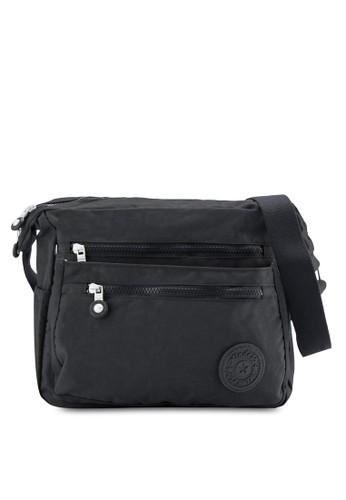 MDS Crinkled Nylon Fabric Sling esprit台北門市Bag, 包, 包